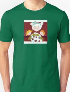 Grandmother with sweet cookies. Grandmother with perfect cookies. Unisex T-Shirt