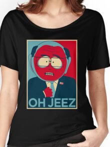 MR GARRISON OH JEEZ Women's Relaxed Fit T-Shirt