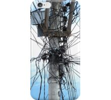Power Lines on a Pole iPhone Case/Skin
