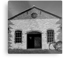 Blacksmith shop Fayette State Park BW Metal Print