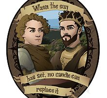 Renly and Loras - Game of Thrones by muin-an-staers