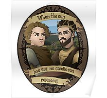 Renly and Loras - Game of Thrones Poster