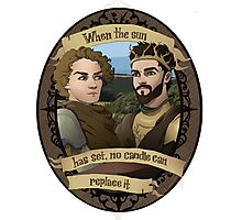 Renly and Loras - Game of Thrones Photographic Print