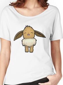 Happy Eevee - Pokemon Amie Thick Boder Women's Relaxed Fit T-Shirt