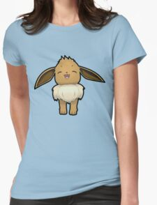 Happy Eevee - Pokemon Amie Thick Boder Womens Fitted T-Shirt