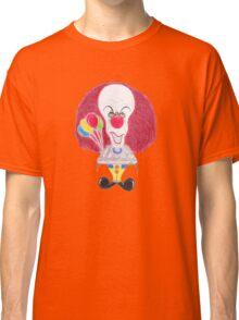 Horror Movie Clown Caricature Classic T-Shirt