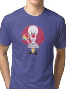 Horror Movie Clown Caricature Tri-blend T-Shirt