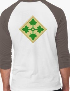 ARMY, 4th Infantry, Division, Soldier, shoulder insignia, American, America, USA,  Men's Baseball ¾ T-Shirt