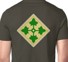 American, Soldier, ARMY, 4th Infantry, Division, shoulder insignia, Unisex T-Shirt