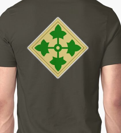 US, ARMY, 4th Infantry, Division, Soldier, shoulder insignia, American, America, USA,  Unisex T-Shirt