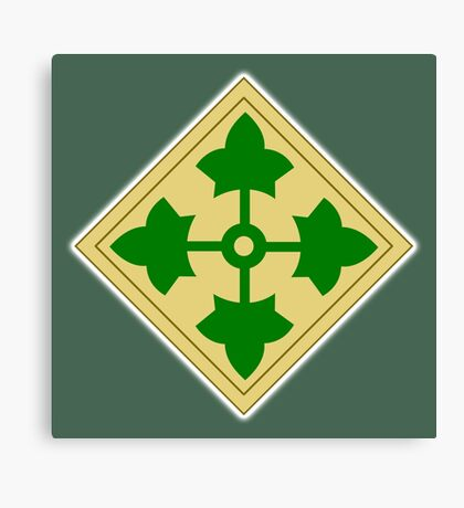 US, ARMY, 4th Infantry, Division, Soldier, shoulder insignia, American, America, USA,  Canvas Print