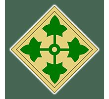 ARMY, 4th Infantry, Division, Soldier, shoulder insignia, American, America, USA,  Photographic Print