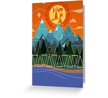nature & triangles Greeting Card