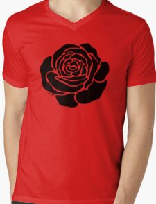 Cool Black Rose  Mens V-Neck T-Shirt