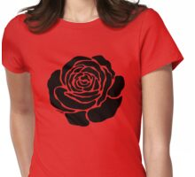 Cool Black Rose  Womens Fitted T-Shirt