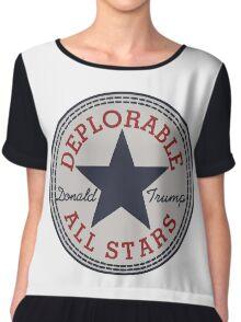 Deplorable All Stars Chiffon Top