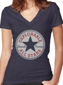 Deplorable All Stars Women's Fitted V-Neck T-Shirt