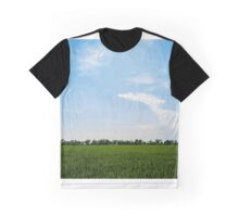 Blue over green Graphic T-Shirt