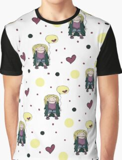 Blondy girl with baloon Graphic T-Shirt