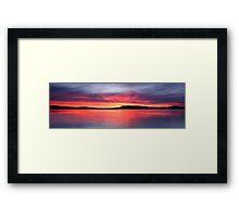 Panoramic Crimson Sunrise. Photo Art, Prints, Gifts, and Apparel. Framed Print