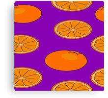 Orange fruit pattern Canvas Print