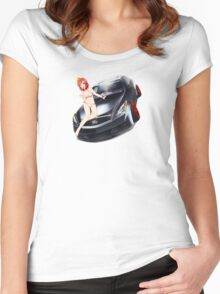 Maki Pose No. 1 G37 Coupe Women's Fitted Scoop T-Shirt