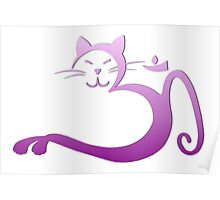 Om Kitty - Purple Fade Poster