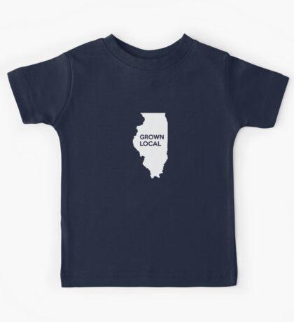 Illinois Grown Local IL Chicago Kids Tee