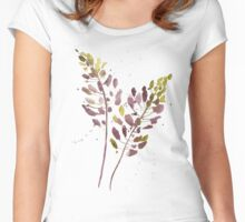 Flowers watercolor illustration Women's Fitted Scoop T-Shirt