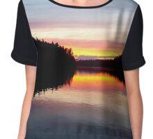 Vibrant sunset Chiffon Top