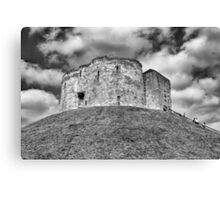 Clifford's Tower in York  historical building  Canvas Print