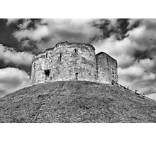 Clifford's Tower in York  historical building  Photographic Print