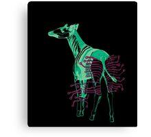 Electric Okapi Canvas Print