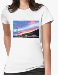Sky Fire Sunset. Photo Art, Prints, Gifts, and Apparel. Womens Fitted T-Shirt