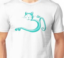 Om Kitty - Liquid Turquoise Unisex T-Shirt
