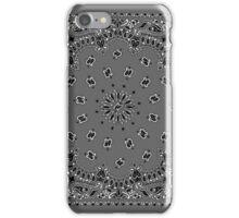 Gray Hanky,Handkerchief  iPhone Case/Skin