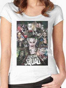 The Joker Suicide Squad  Women's Fitted Scoop T-Shirt