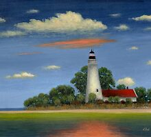 St. Mark's Light, Florida by Gordon  Beck