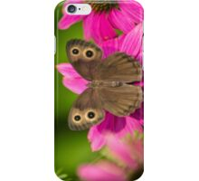 Pretty Butterfly with Flowers iPhone Case/Skin