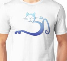 Om Kitty - Blue Fade Unisex T-Shirt