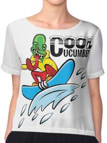 Cool as a Cucumber Chiffon Top