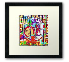 Colorful decorative art Framed Print