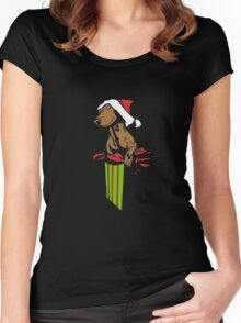 Christmas Dog T Shirts Best Holiday Gifts Idea For Women Men Women's Fitted Scoop T-Shirt