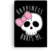 Happiness Skull Canvas Print