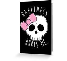 Happiness Skull Greeting Card