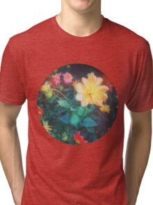 VINTAGE FLOWERS Tri-blend T-Shirt