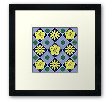 Blue, Yellow, and Green Framed Print