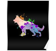 German Shepherd Puppy Colorful Dog Gift Shirt | Kids & Adult Poster
