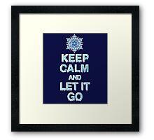 Keep Calm & Let It Go Framed Print