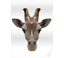 Geometric Giraffe Face Poster